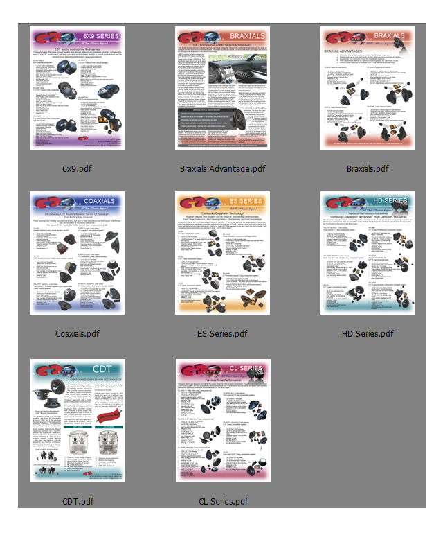 CDT Audio Technology Product Brochure PDFs